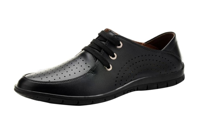 Men's Leather Slip on Simple Dress Shoes