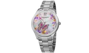 Akribos XXIV Women's Swarovski Crystal Bracelet Watch AKGP953