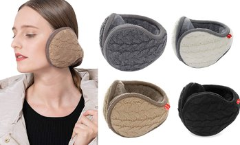 Winter Foldable Warmer Soft Behind The Head Style Fur Earmuffs