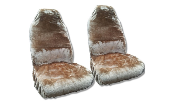 MD Trading Inc.: Faux Sheepskin  Pair Soft Plush Synthetic Wool Bucket Seat Cover