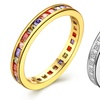 18K Gold Plated Marquis Cut Crystal Band - Two Options