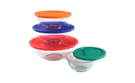 Pyrex Smart Essentials Mixing Bowl Set 8 piece