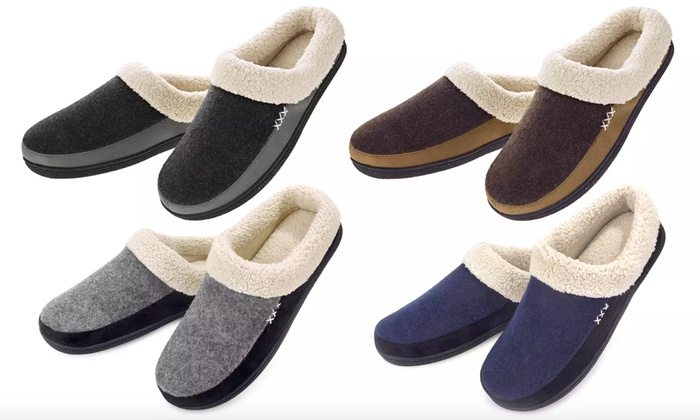 Off on VONMAY Men's Slippers Fuzzy H