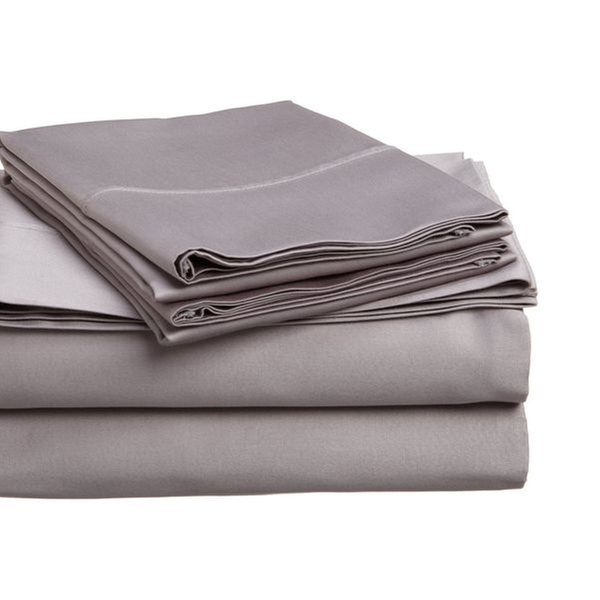 400 Thread Count Egyptian Cotton Olympic Queen Sheet Set Solid Plum