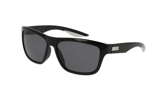 PUMA PU0060S 002 Black Frame / Grey Polarized Lenses | Groupon