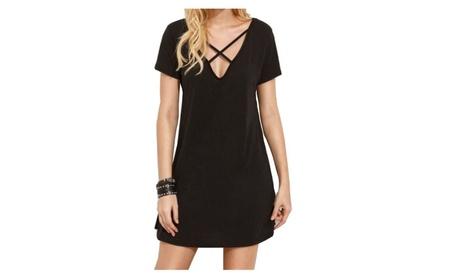 Women's Basic Cami Short Sleeve T-shirt Dress 38f6385f-5663-42a0-937f-d3e586fd0ff3