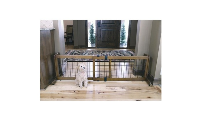 122fa7fd943 Carlson 2070DS 2-in-1 Wood Freestanding Pet Gate Multi-color