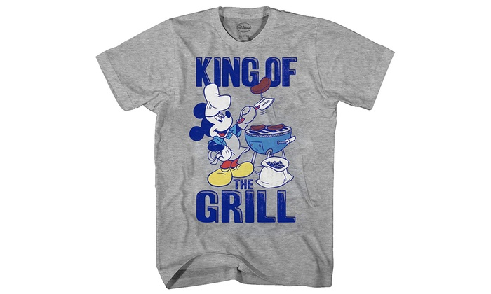 4ce14b2df Mad Engine Disney Mickey Mouse King of The Grill Men's Adult Graphic Tee T- Shirt