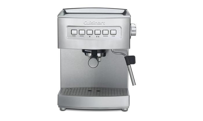 Cuisinart Em 200 Programmable 15 Bar Espresso Maker Stainless Steel Groupon
