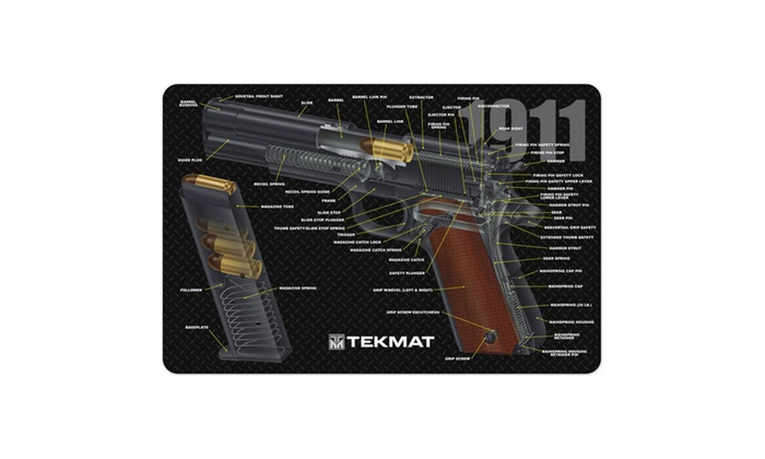 1911 3D Cutaway Cleaning Mat