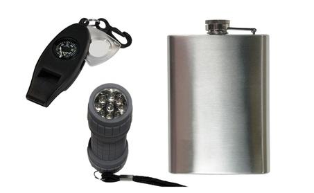 4in1 Whistle + Compact Design Flask & 9-LED Mini Flashlight 16a468d5-04e4-4fb6-89c7-1e353922fc1c