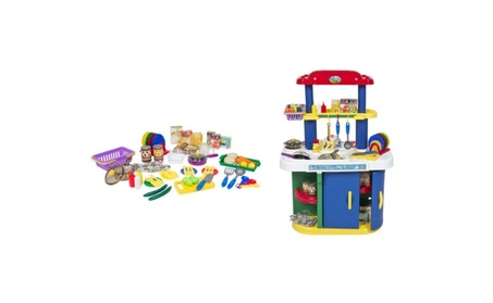 Deluxe Children Kitchen Cooking Pretend Play Set with Accessories 0d55b437-94b4-448e-9f4c-bfd7737b74c5