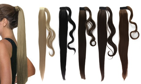 Natural Straight Long Ponytail Clip Hair Extension