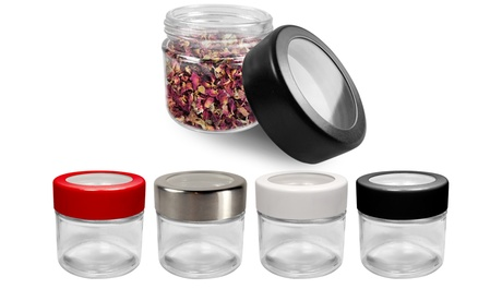 Odor-Proof Waterproof Dry Herb Glass Storage Container