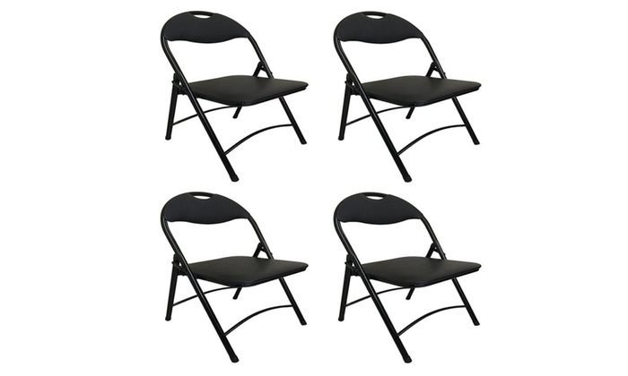 MD Trading Inc.:  Black Metal Folding Chair with Padded Seat for Comfort Steel Frame 4