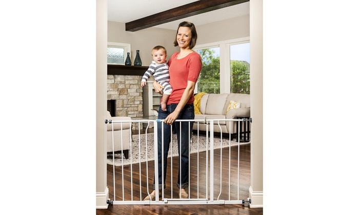 ... Regalo Easy-Open Walk-Through Safety Baby Gate  sc 1 st  Groupon : baby door - pezcame.com