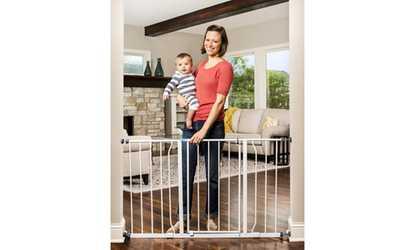 Shop Groupon Regalo Easy Open Walk Through Safety Baby Gate