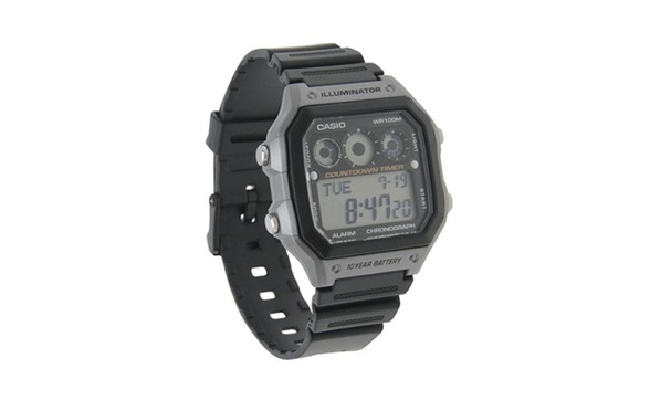0323aa7ba Men's AE-1300WH-8AVCF Illuminator Digital Display Quartz Black ...
