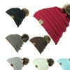 CC Women Knitted Hat Winter Warm Comfortable Woolen Cap Beanie Hats