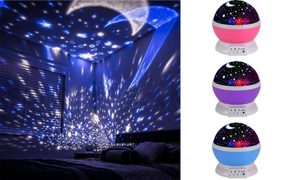 Night Light for Kids Moon Star Projector 8 Color Changing with USB Cable