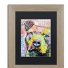 Dean Russo 'Thouthful Pittbull II' Matted Birch Framed Art