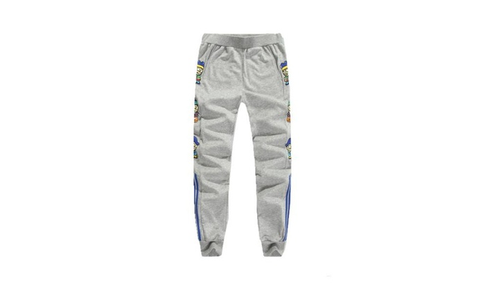 Men's Casual cotton Long Sport Pants - Gray / One Size