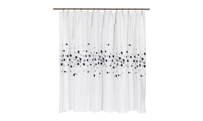 Dots Extra Wide 100 Polyester Fabric Shower Curtain