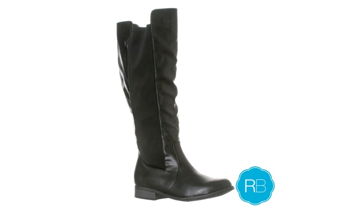 Riverberry Women's 'Emily' Stretch Knee-High Riding Boot, Black