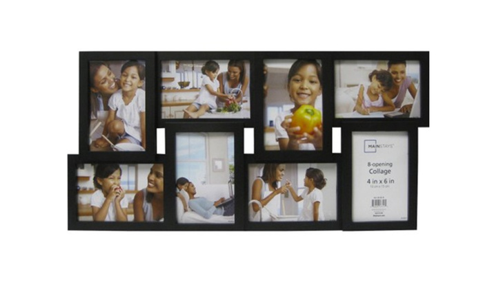 8 Opening Black Collage Frame