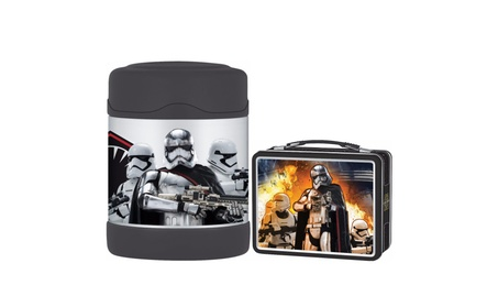 Thermos Funtainer 10 oz Food Jar w/ Metal Lunch Box Kit - Star Wars