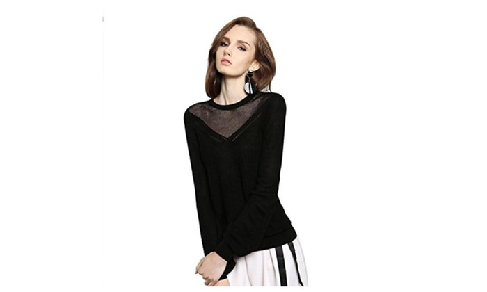 Women Knit Sweater Basic Knitted Pullover Shirt Multi Style Necessary Knit Shirt