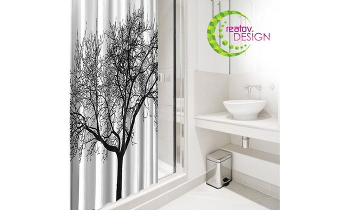 Shower Curtain With Tree Design 100 Waterproof Groupon