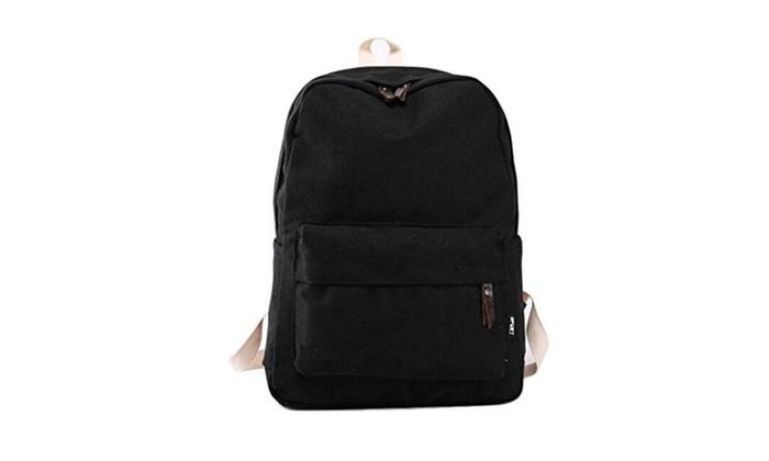 Canvas Travel Rucksack Shoulders Bag Satchel Backpack School Bags