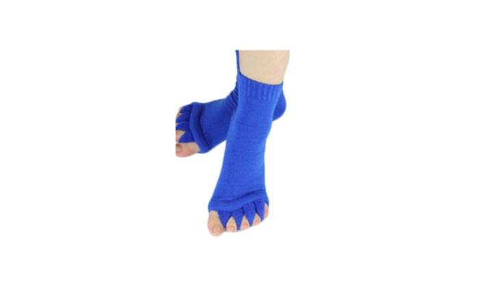 Five Toe Separator Socks Foot Alignment Pain Yoga GYM Massage