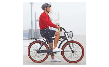 """Huffy 26"""" Nel Lusso Cruiser with Perfect Fit Frame Men's Bike 74455139-7a66-43cd-aa7d-9acc0d766b9c"""