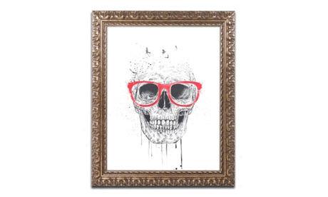 Balazs Solti 'Skull With Red Glasses' Ornate Framed Art 7ad27a0a-c7c9-4f9b-834e-9e89af85489f