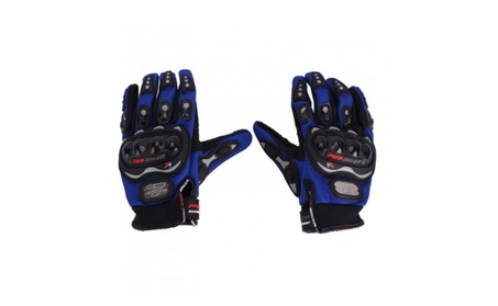 XL-size Bicycle Motorcycle Riding Protective Gloves Blue 6200fc4f-6b84-4526-85b2-3e5b8966047d