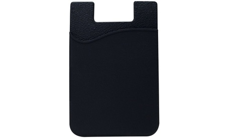 Silicone 3M Adhesive Pouch Credit Card Holder for ALL Cell Phones
