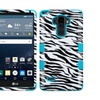 Insten Tuff Zebra Hard Hybrid Case For Lg G Stylo/g Vista 2 Blk/white