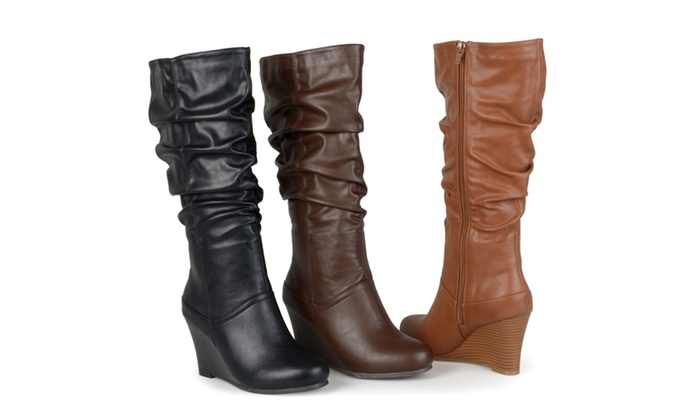 3d42d3219ef Journee Collection Womens Wide-Calf Slouch Knee-High Dress Boots ...