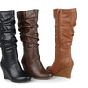 Journee Collection Womens Wide-Calf Slouch Knee-High Dress Boots