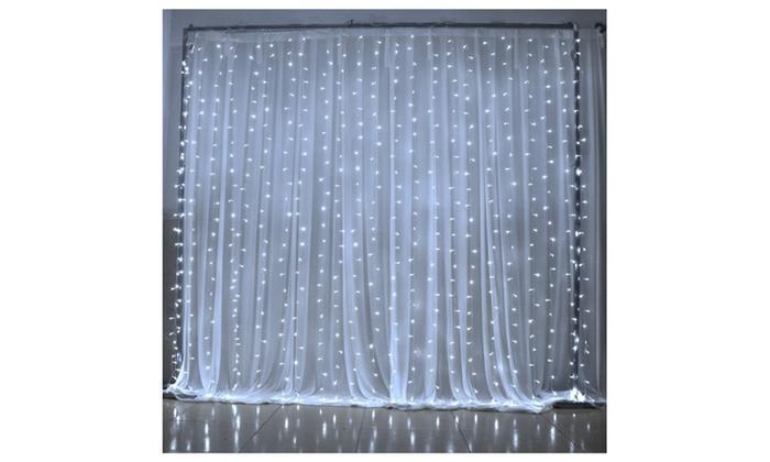 Window Curtain Icicle Lights