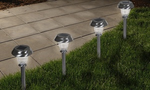 Solar-Powered Low-Voltage LED Outdoor Stake Lights (Set-of-6)