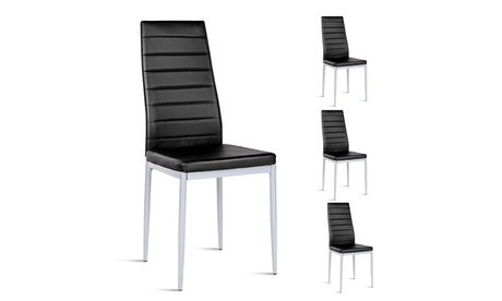 Set of 4 PU Leather Dining Chairs Set