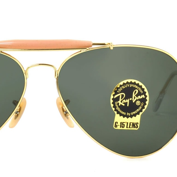 16f477c32054f Ray Ban Outdoorsman II Men Sunglasses RB3029 L2112 62 Gold   Green Classic  G-15