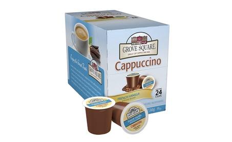 Grove Square Cappuccino, French Vanilla, 24 Count Single Serve Cups 741a5604-0e9a-4b86-bfc1-6ea98d2128c0