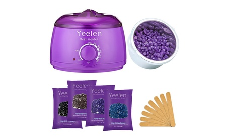 Yeelen Hair Removal Hot Wax Warmer Waxing Kit Wax Melts + 4 Flavors 4ab77872-ca34-4af3-b85a-10d7062231f2