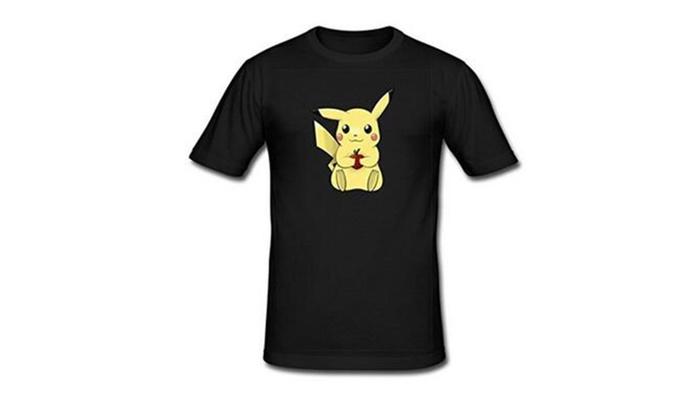 Kesidun: Cartoon Character Logo Men's Classic Tshirt Tees