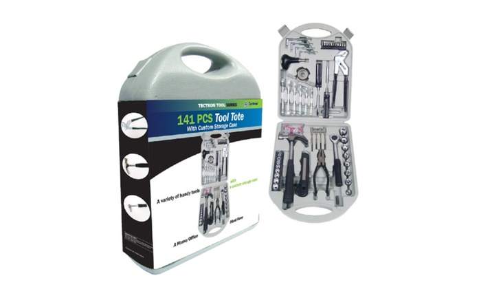Tool Box Set with Carrying Hard Case, 141 pieces