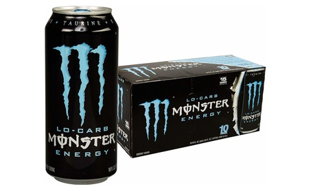 Monster Energy, Lo-Carb, 16 Ounce (Pack of 20)